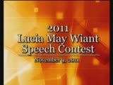 2011 Lucia May Wiant Speech Contest