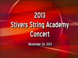 2013 Stivers String Academy Fall Concert