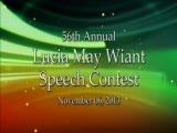 2013 Lucia May Wiant Speech Contest