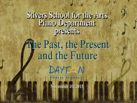 """Stivers Piano Department presents """"The Past, the Present, the Future"""""""