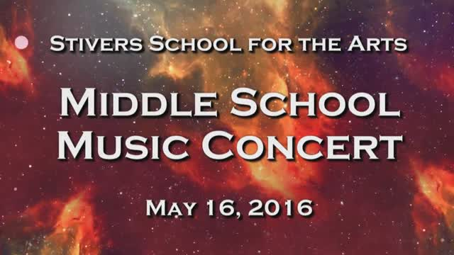 Stivers School for the Arts Middle School Music Concert